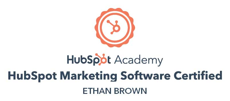 Ethan-Marketing-HubSpot-Certificate